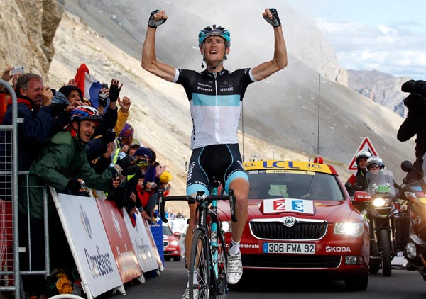 Andy Schleck wins, Tour de France 2011, stage 18
