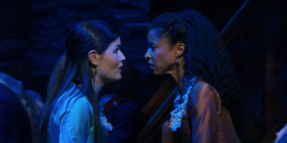 Phillipa Soo and Renee Elise Goldsberry in Hamilton