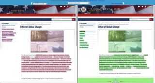 U.S. Department of State Global Change web page