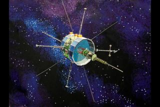 International Sun-Earth Explorer 3 Spacecraft Illustration