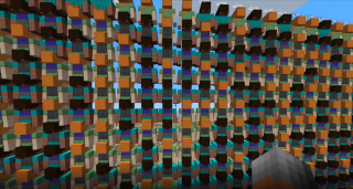Thousands of Steves piled atop one another in Minecraft.