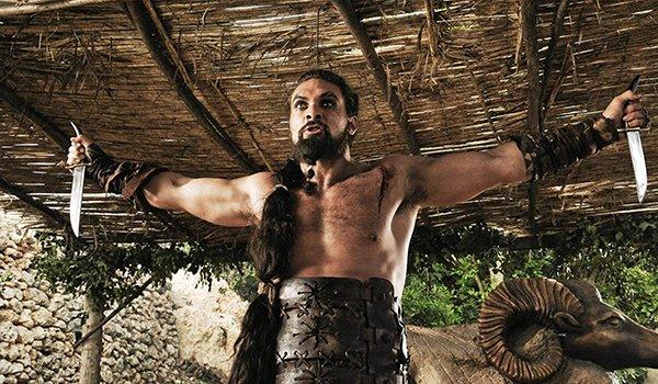 Khal Drogo preparing for battle