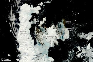 Antarctic Peninsula in spring.