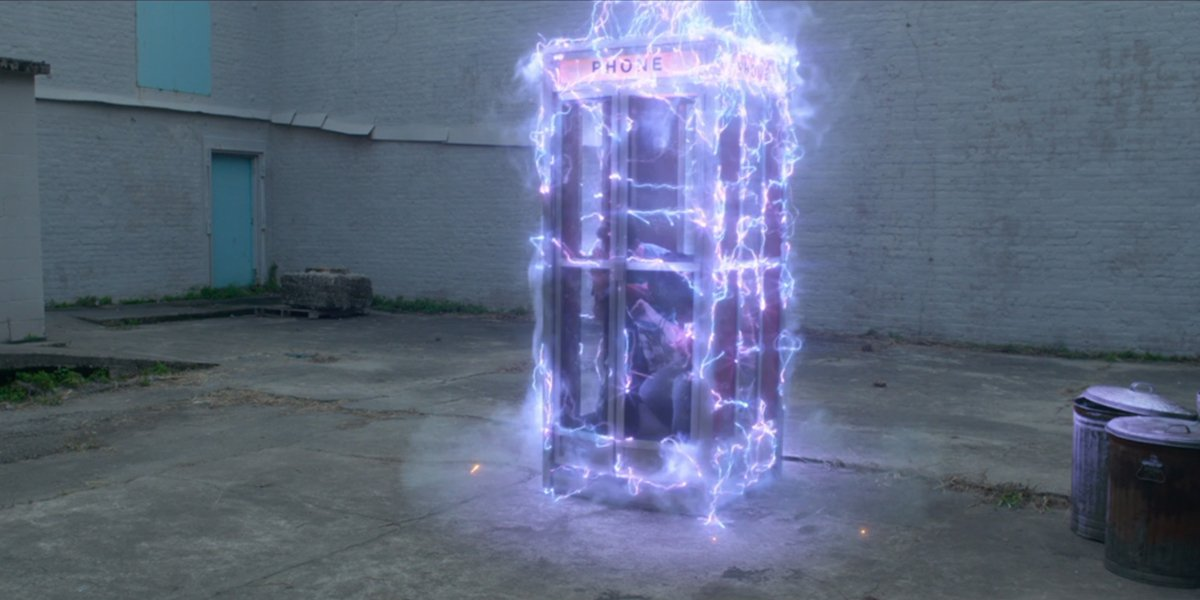 Bill and Ted Face The Music phone booth time travel