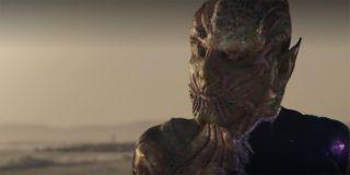 Skrull transforms in Captain Marvel