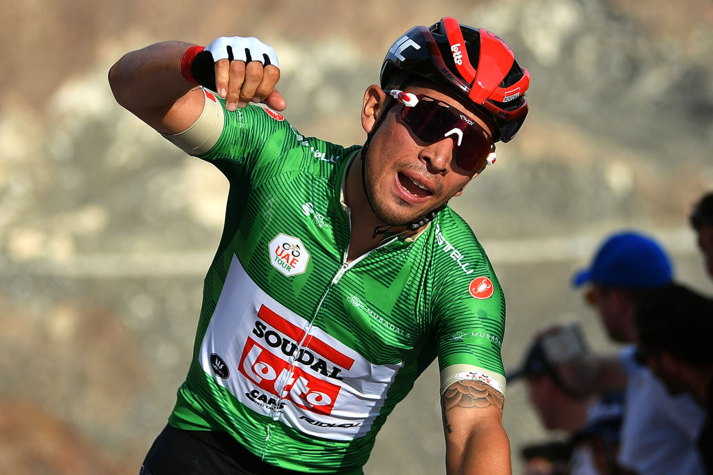 Lotto Soudal's Caleb Ewan wins stage 2 of the 2020 UAE Tour in February