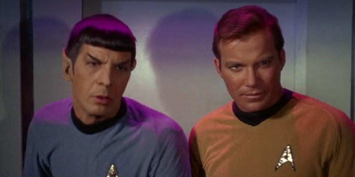 William Shatner and Lenord Nimoy in Star Trek