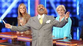 'Family Feud,' hosted by Steve Harvey, has led all of syndication for four straight weeks.