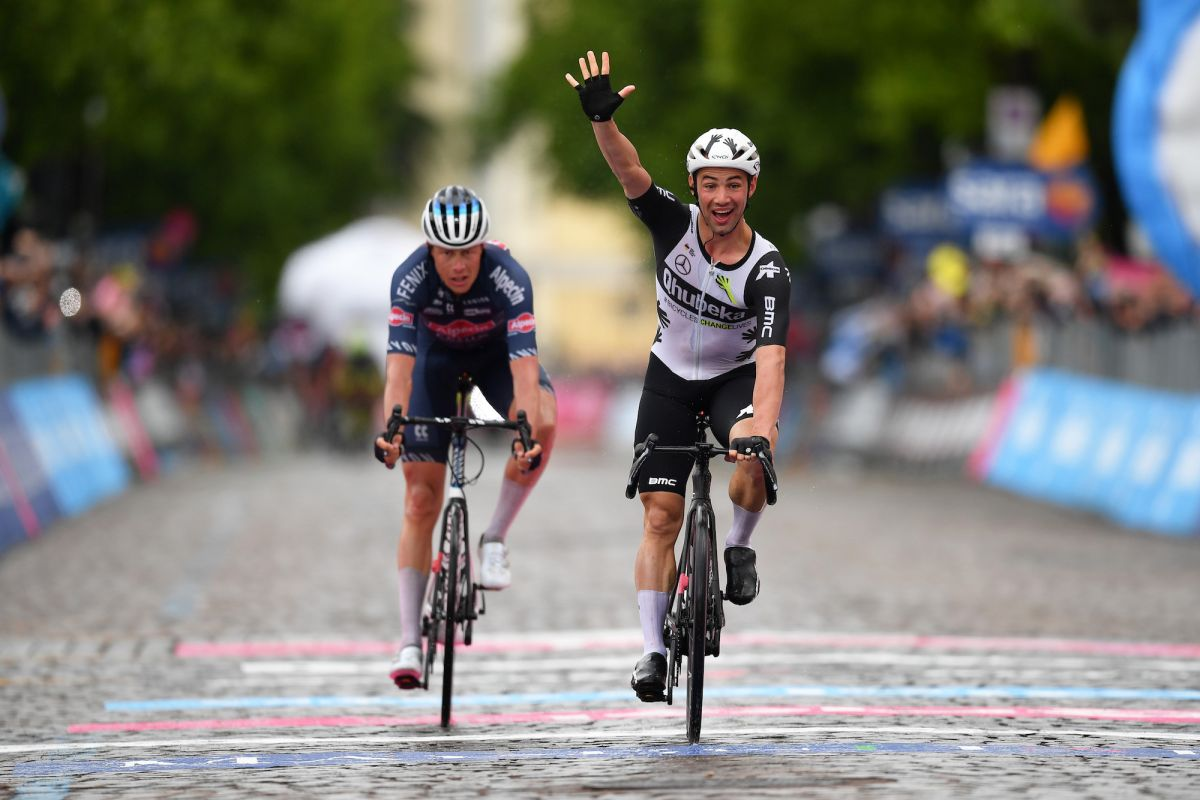 Victor Campenaerts wins first Grand Tour stage from breakaway on stage 15 of the Giro d'Italia