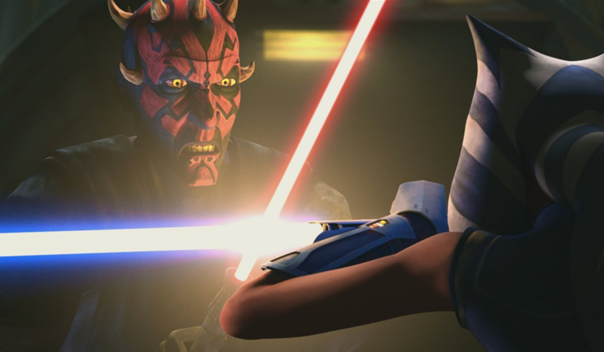 star wars the clone wars maul vs ahsoka phantom apprentice disney+