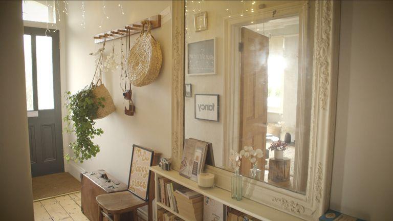 neutral scheme hallway in Instagrammer Dee Campling's house