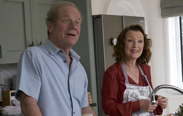 Peter Mullan as Michael with Lesley Manville as Cathy in Mum