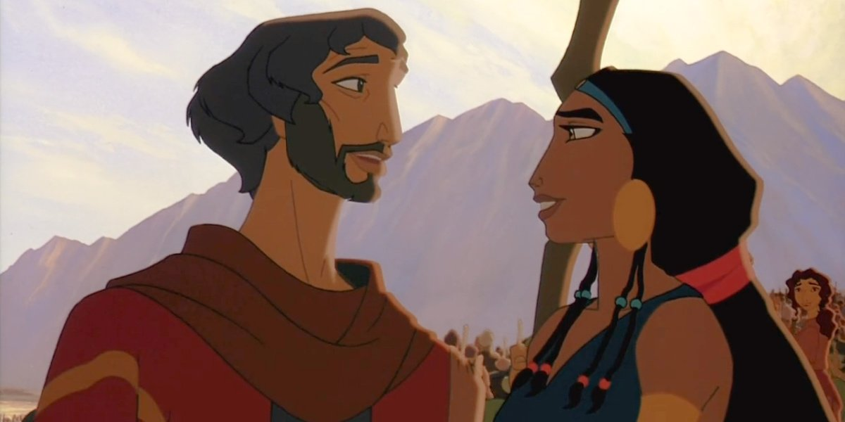 Moses and Tzipporah in The Prince of Egypt.