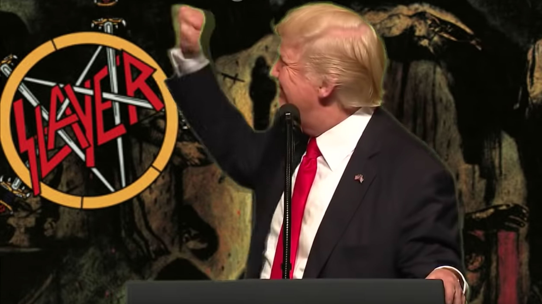 Here's Donald Trump singing Raining Blood by Slayer