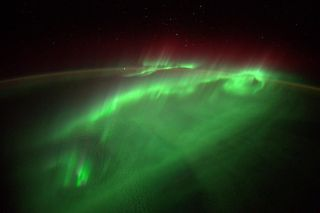 Aurora from ISS by Gerst