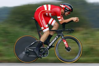 Kasper Asgreen (Denmark) finished two seconds off the podium in fourth place at the UCI Road World Championships elite men's time trial