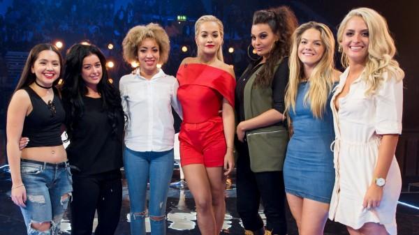 Rita Ora and her Girls: Havva Rebke, Lauren Murray, Kiera Weathers, Monica Michaels, Louisa Johnson and Chloe Paige