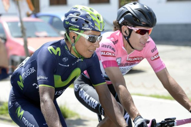 Nairo Quintana and Rigoberto Uran on stage thirteen of the 2014 Giro d'Italia