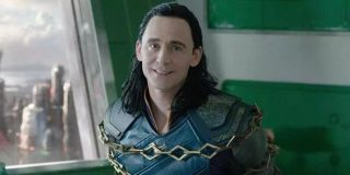 Loki (Tom Hiddleston) smiles in Thor: Ragnarok (2017)