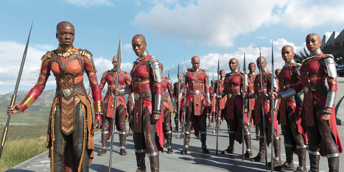 The women of the Dora Milaje in Black Panther