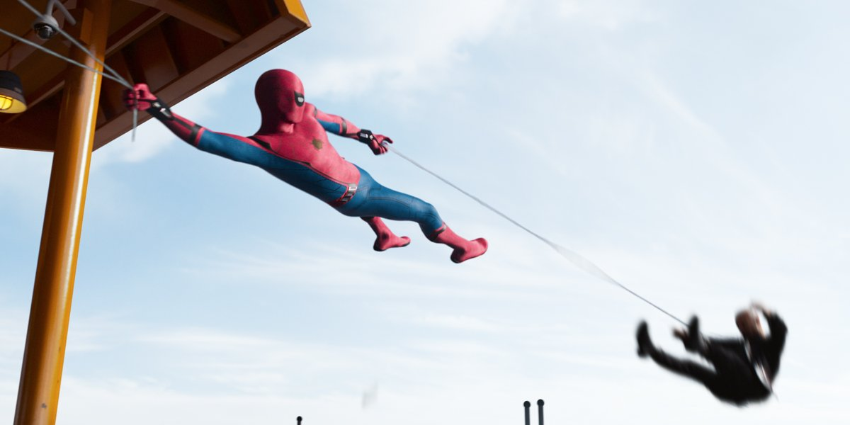 Spider-Man Homecoming saves a guy on ferry
