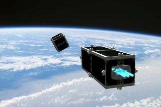 CleanSpace One Satellite Chases Its Target