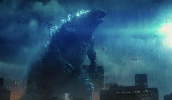 Godzilla glowing night helicopters