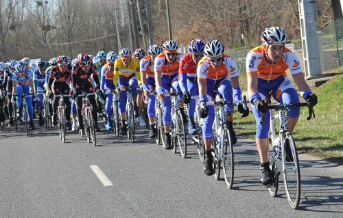 Rabobank chases, Paris-Nice 2010, stage one