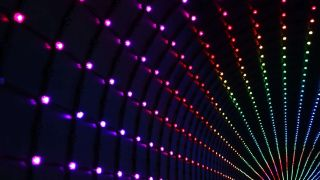 Rows of LEDs in rainbow glory