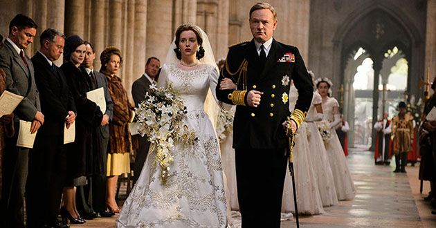 Jared Harris stars as King George VI, opposite Claire Foy as a young Queen Elizabeth
