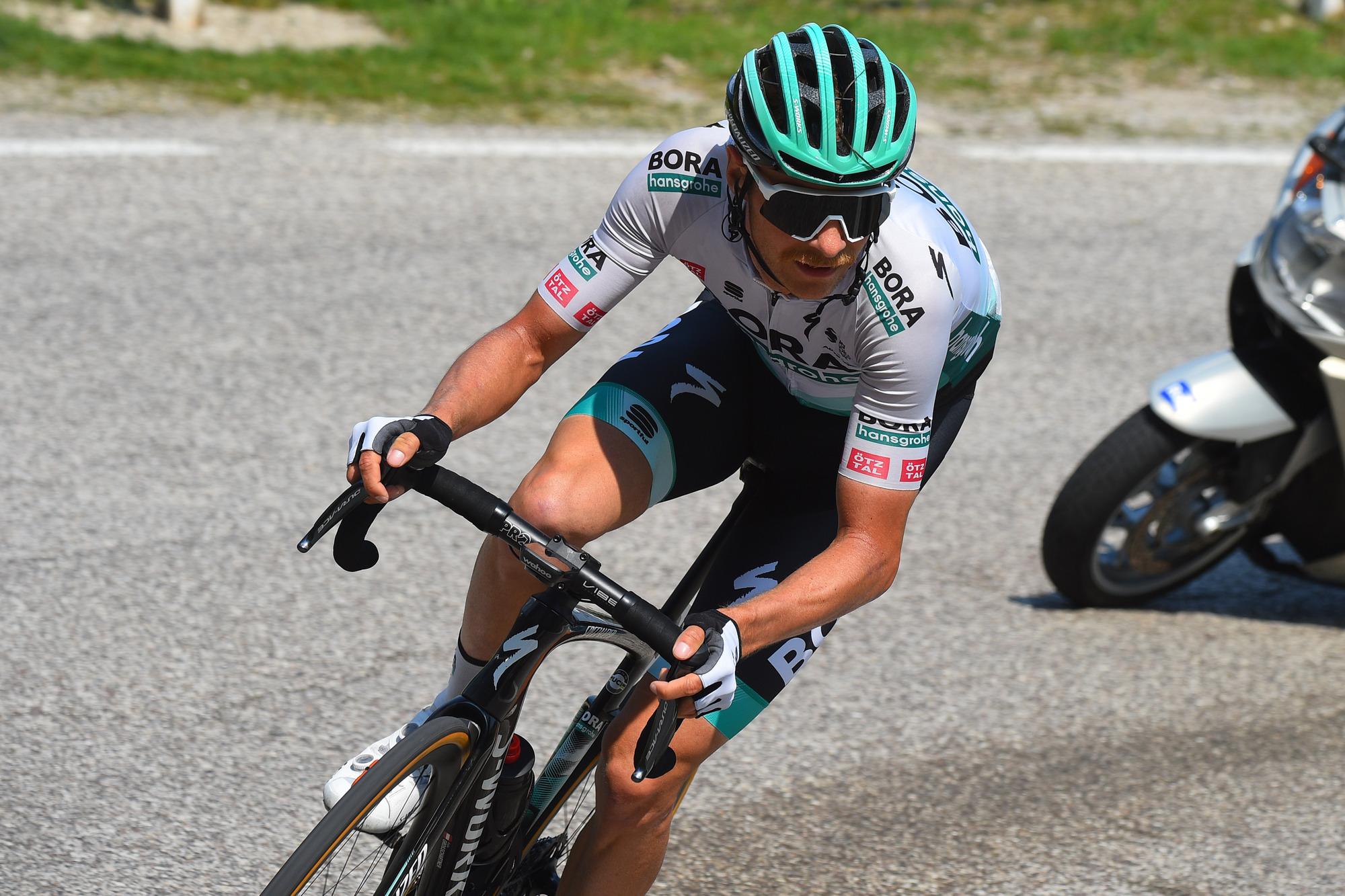 Tour of the Alps 2021 45th Edition 5th stage Valle del ChieseIdroland Riva del Garda 1209 km 23042021 Felix Grossschartner AUT Bora Hansgrohe photo Dario BelingheriBettiniPhoto2021