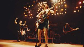 AC/DC onstage in London in 1980