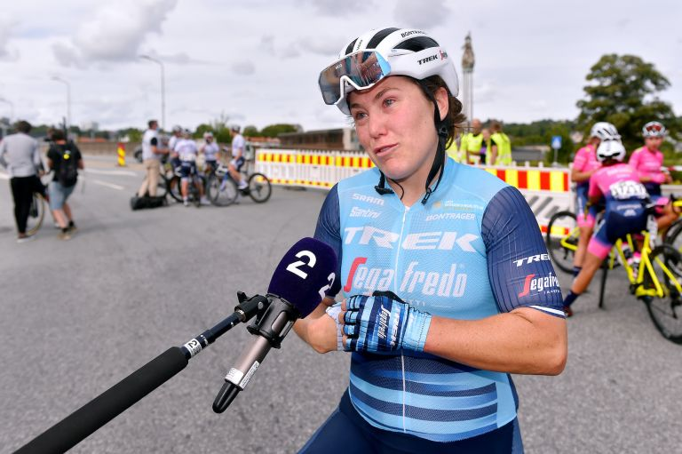 Chloe Hosking after her victory in the Tour of Norway