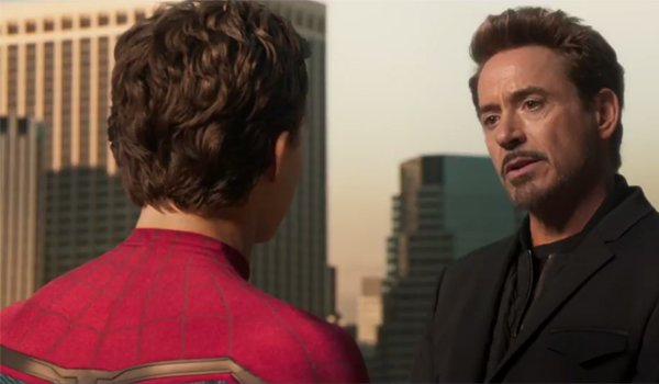 Tony Stark With Peter Parker Spider-Man Homecoming