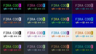 monospace fonts: Fira Code