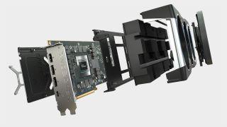 AMD RX 6800 XT graphics card at various angles