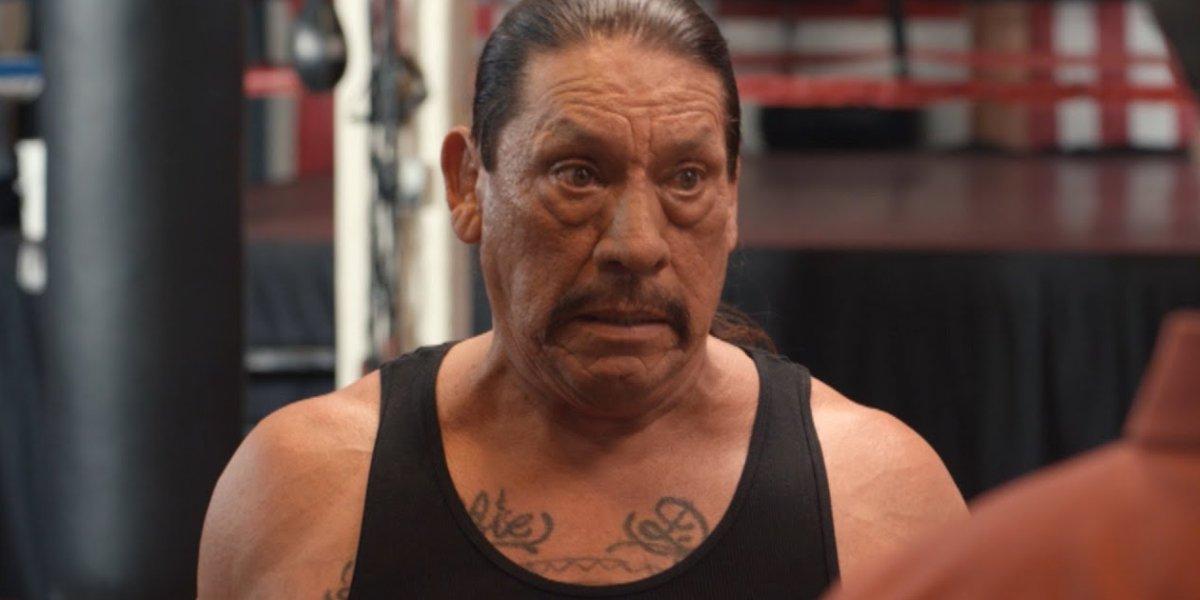Danny Trejo in front of a boxing ring in Bully