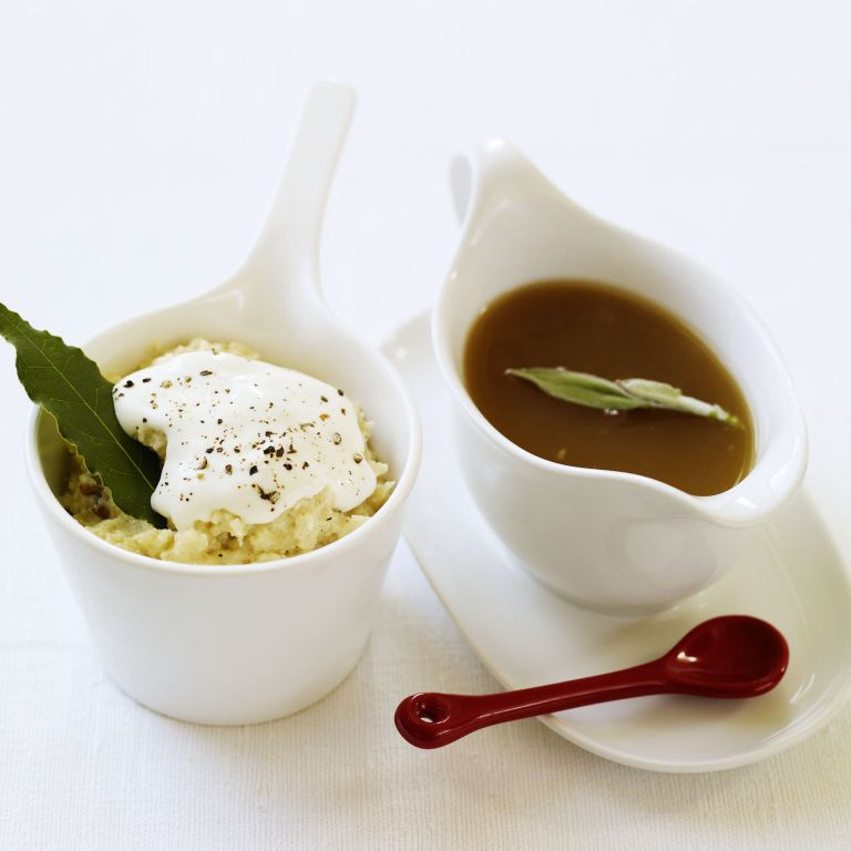 Luxury Bread Sauce and Herby Turkey Gravy recipes-recipe ideas-new recipes-woman and home
