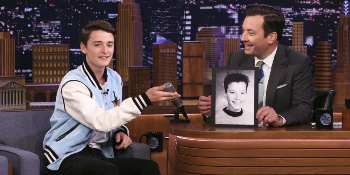 The Tonight Show with Jimmy Fallon Noah Schnapp Jimmy Fallon NBC