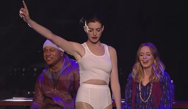 Watch Anne Hathaway S Glorious Lip Sync Rendition Of