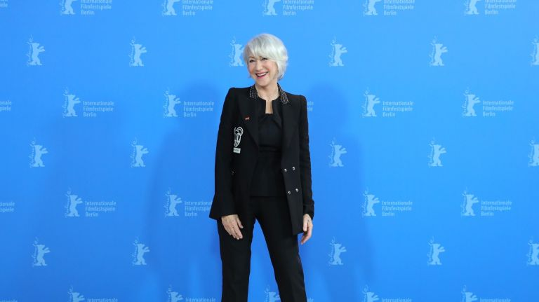 """Helen Mirren poses at the """"Homage Helen Mirren"""" photo call during the 70th Berlinale International Film Festival Berlin at Grand Hyatt Hotel on February 27, 2020 in Berlin, Germany."""