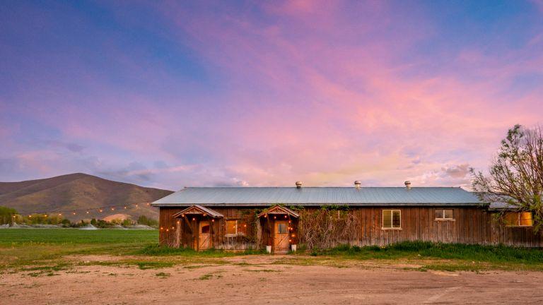 Exterior of Robert Redford's Utah ranch