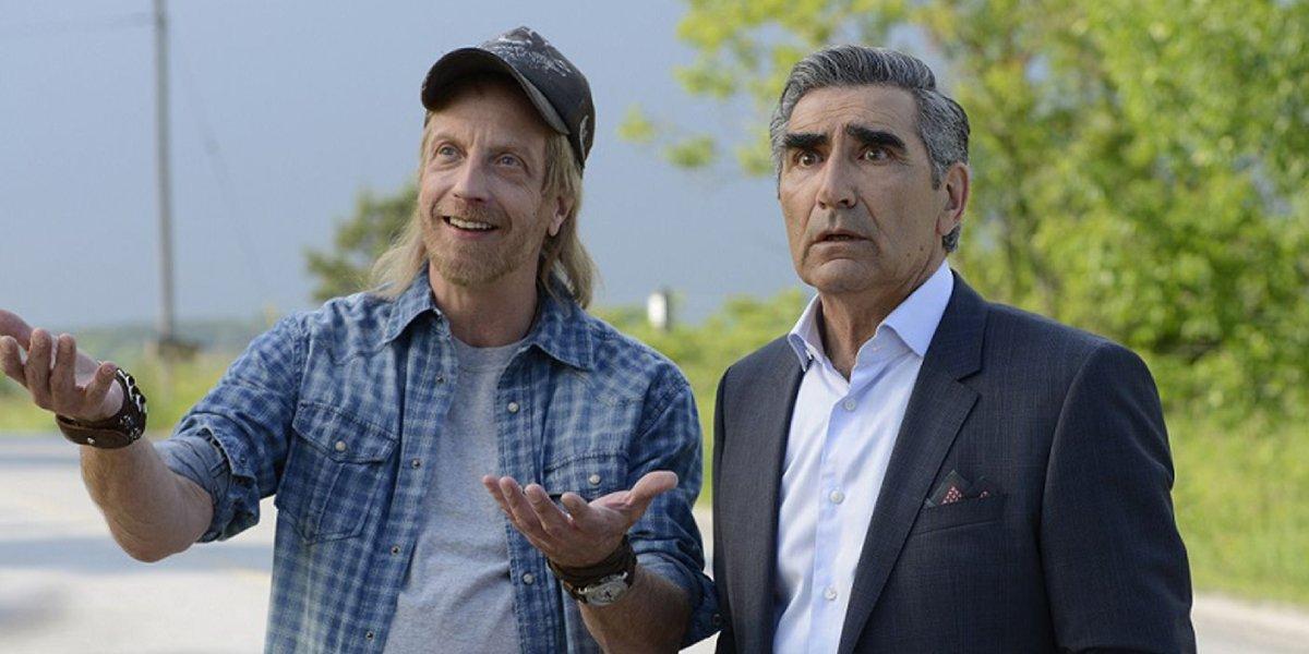 Chris Elliot and Eugene Levy in Schitt's Creek