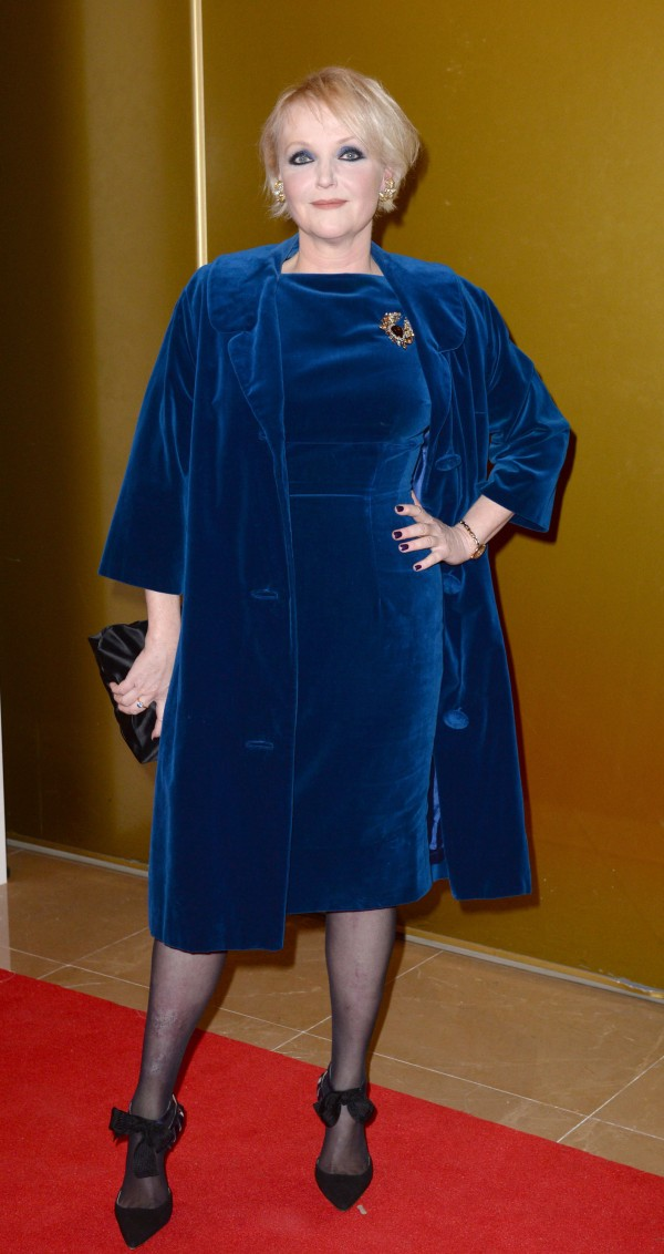 Miranda Richardson  is electric in blue (Anthony Devlin/PA)