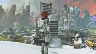 Horizon looks out over Apex Legends' city