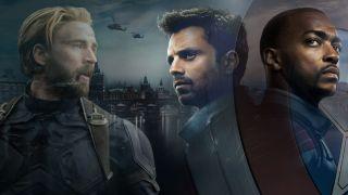 Captain America, Winter Soldier, and Falcon.