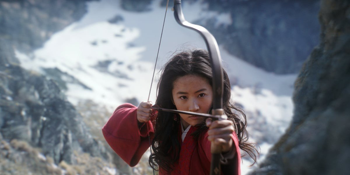 Mulan setting her aim