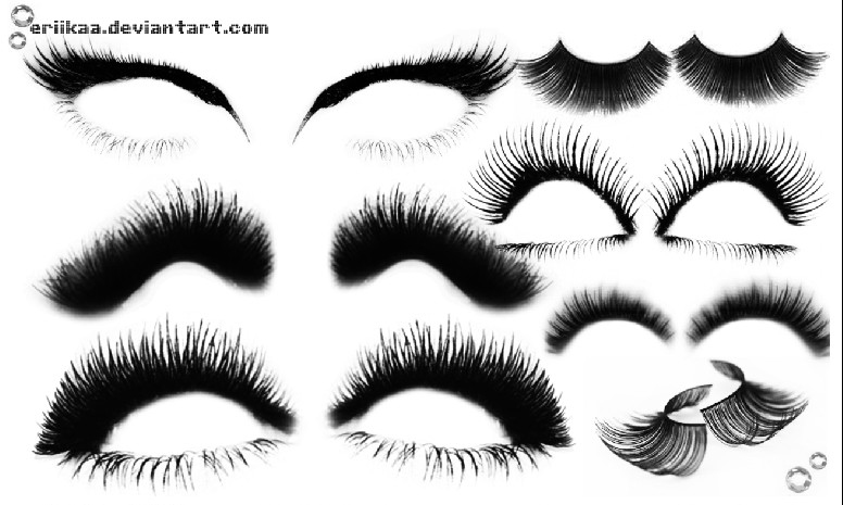 Photoshop brushes: eyelash