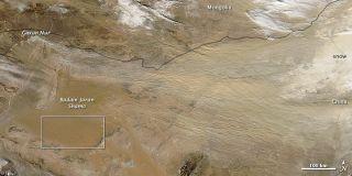 Dust storm strikes Gobi Desert