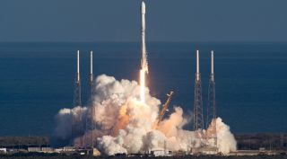 The Falcon 9 launch of GovSat-1 in January. SpaceX is now certified to use that rocket for NASA science missions, starting with an astronomy satellite scheduled for launch no earlier than mid-April.